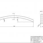 Łuk 44x90x1800 Rw-2034 - rysunek techniczny