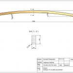 Łuk Dalia 56x120x4500 Rw-12000 - rysunek techniczny