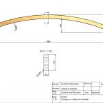Łuk konstrukcyjny 44x150x4800 Rw-5800 - rysunek techniczny