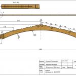 Łuk konstrukcyjny 44x380x6000 Rw-5800 - rysunek techniczny