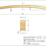 Łuk konstrukcyjny 44x90x2400 Rw-5800 - rysunek techniczny