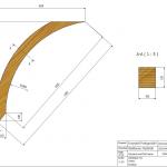 Łuk wspornikowy 100x120x1583 Rw-1090 - rysunek techniczny