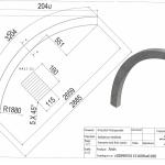 Łuk wspornikowy 115x160x2660 Rw-1880 - rysunek techniczny