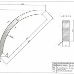 Łuk wspornikowy 38x120x1838 Rw-1090 - rysunek techniczny