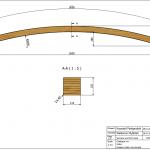 Łuk Dalia 118x120x3600 Rw-5800 - rysunek techniczny